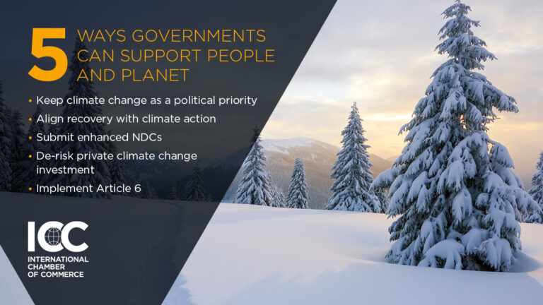 Slide 5 ways Goverments can support people and planet